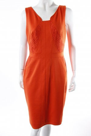 David Meister Kleid orange-rot