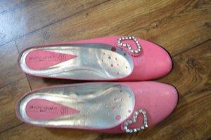 Vera Pelle Sandalo con tacco rosa-rosa