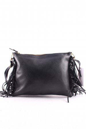 "Davina Mulford London Fransentasche ""Fringed Cross Body Bag Black"" schwarz"