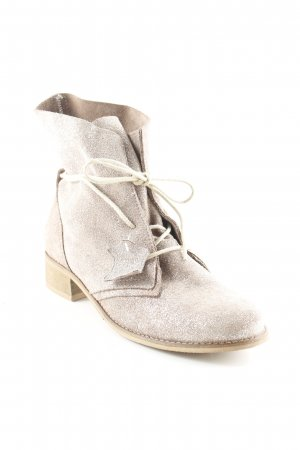 Davos Gomma Short Boots beige-silver-colored glittery