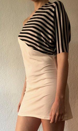 DaWanda Kleid Einärmlig Stretchkleid in creme mit Streifen - M