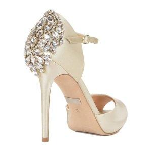 DAWN PEEPTOE  Ivory Hochzeit Schuhe
