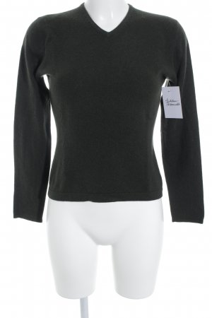 Dawson Cashmere Company Cashmerepullover dunkelgrün schlichter Stil