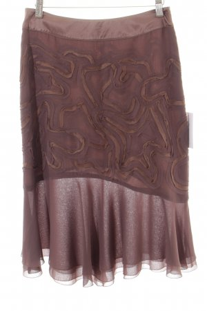 DAY Birger et Mikkelsen Godet Skirt taupe-brown abstract pattern elegant