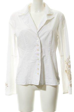 DAY Birger et Mikkelsen Hemd-Bluse weiß-beige florales Muster Business-Look