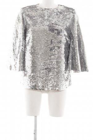 DAY Birger et Mikkelsen Oversized Blouse silver-colored wet-look