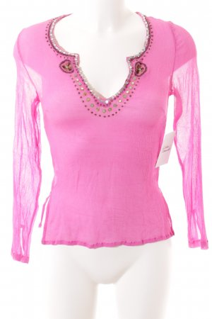 DAY Birger et Mikkelsen Transparenz-Bluse pink Gypsy-Look