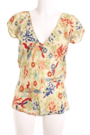 DAY Birger et Mikkelsen V-Ausschnitt-Shirt Blumenmuster Casual-Look