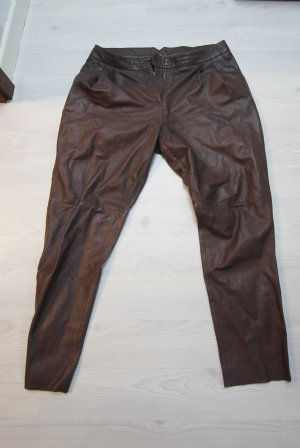 DAY Birger et Mikkelsen Leather Trousers brown red