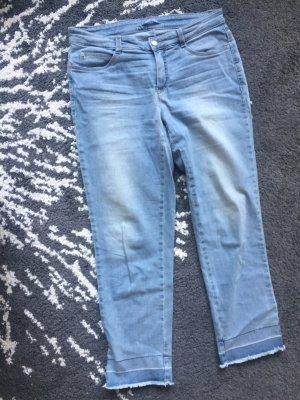 Jeans a 3/4 azzurro-blu