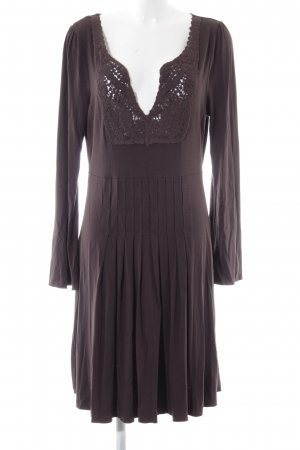 DAY Midi Dress brown quilting pattern elegant