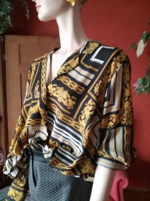 Wraparound Blouse multicolored polyester