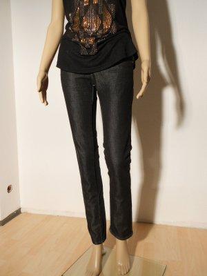 DBC Jeans W26 L32 Neuwertig schwarz glänzend