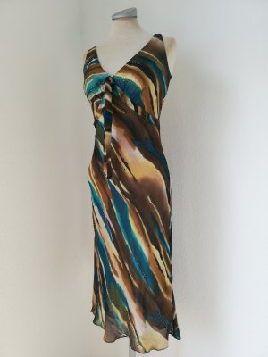 DBL Debenhams Seidenkleid Kleid Seide Midikleid knielang UK 10 EUR 38 S M Sommerkleid