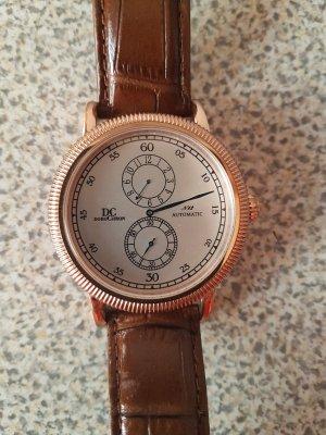 DC - DOROCHRON UHR # Letzter Preis #traumhafte Automatik Uhr #XL# edel mit Lederarmband & blauem Zeiger #
