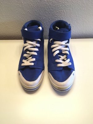DC Shoes Sneakers met veters blauw-geel