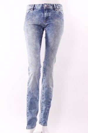 Jeans cigarette bleu acier-bleuet