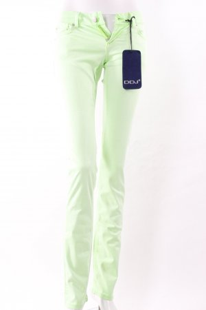 Jeans cigarette vert fluo