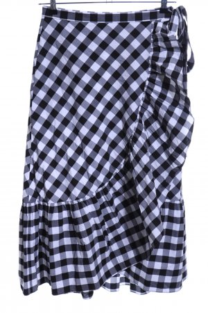 de.corp by Esprit Pencil Skirt black-white check pattern casual look