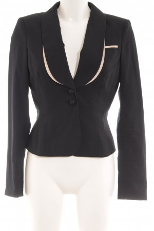 de.corp by Esprit Boyfriend-Blazer schwarz-creme Business-Look
