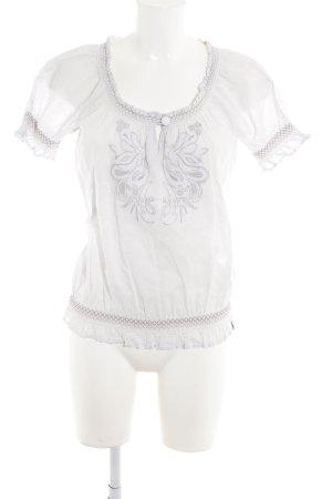 de.corp by Esprit Carmen blouse wolwit-lichtgrijs romantische stijl