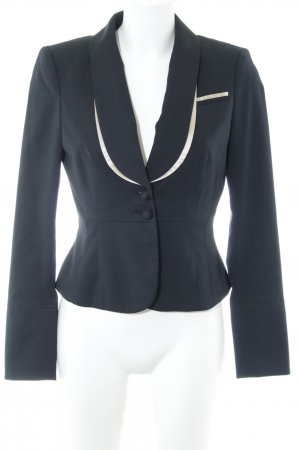 de.corp by Esprit Kurz-Blazer schwarz-altrosa Business-Look