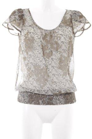 de.corp by Esprit Kurzarm-Bluse florales Muster Casual-Look