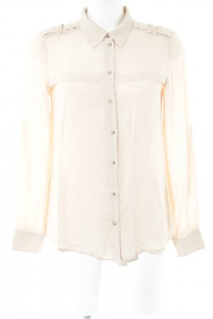 de.corp by Esprit Langarm-Bluse creme Business-Look