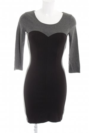 de.corp by Esprit Langarmkleid grau-schwarz Business-Look