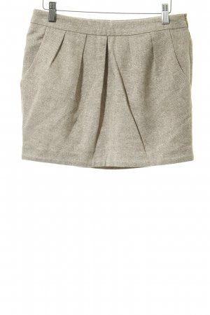 de.corp by Esprit Miniskirt rose-gold-coloured-beige weave pattern