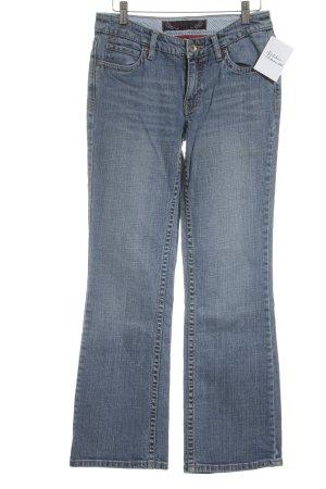 de.corp by Esprit Straight-Leg Jeans stahlblau-weiß Casual-Look