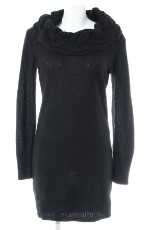 de.corp by Esprit Knitted Dress black cable stitch casual look