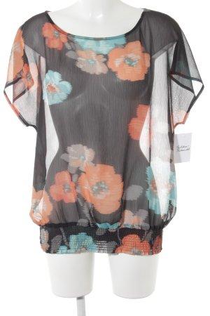 de.corp by Esprit Transparenz-Bluse Blumenmuster Casual-Look