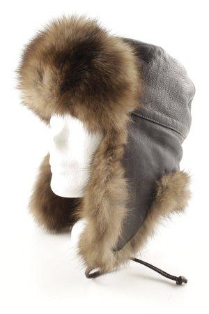 De Nicola Sombrero de piel marrón estilo clásico