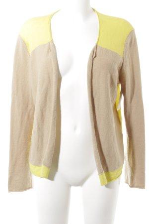 Dear Cashmere Cardigan beige-neongelb Casual-Look