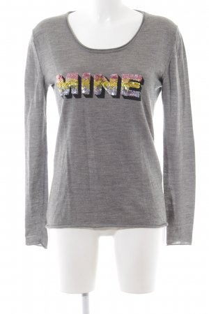Dear Cashmere Crewneck Sweater printed lettering casual look
