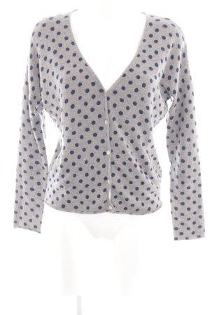 Dear Cashmere Knitted Cardigan light grey-blue spot pattern casual look