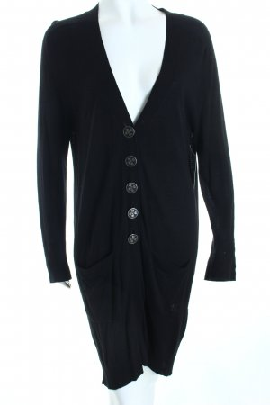 Dear cashmere Strick Cardigan schwarz Casual-Look