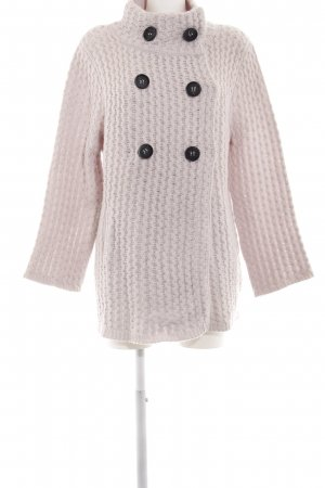 Dear Cashmere Cardigan pink cable stitch casual look