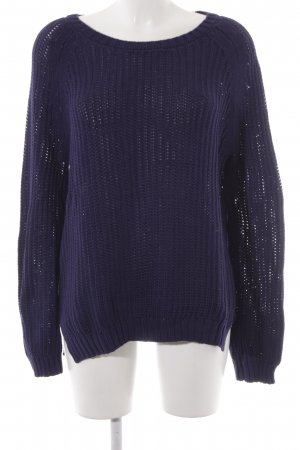 Dear Cashmere Knitted Sweater dark blue casual look