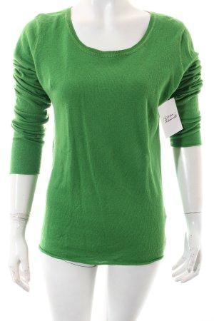 Dear Cashmere Strickpullover grün Casual-Look