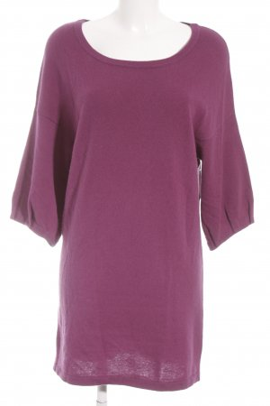 Dear Cashmere Wollkleid blauviolett Casual-Look
