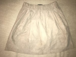 Leather Skirt natural white-beige