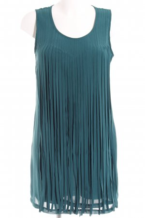 Debby Debo Fringed Dress petrol elegant