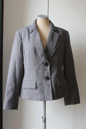 Debenhams Blazer Kostüm Jacke hellgrau Gr. 40 UK 14 M tailliert business Büro