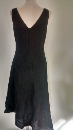 Debenhams Leinenkleid schwarz Gr. UK 12 EUR 40 Kleid lang asymetrisch gothic goa