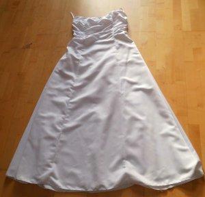 Debütantenkleid Abendkleid Ballkleid Brautkleid Gr 44 weiss