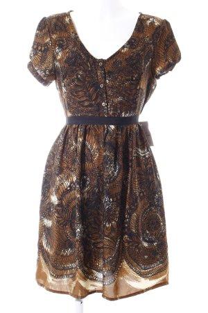 Deby Debo Blusenkleid abstraktes Muster extravaganter Stil