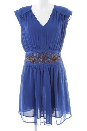 Deby Debo Chiffon Dress blue-bronze-colored elegant