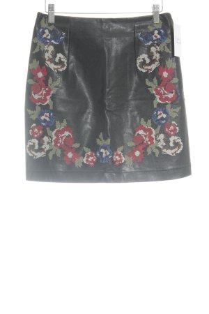 Deby Debo Kunstlederrock florales Muster Romantik-Look